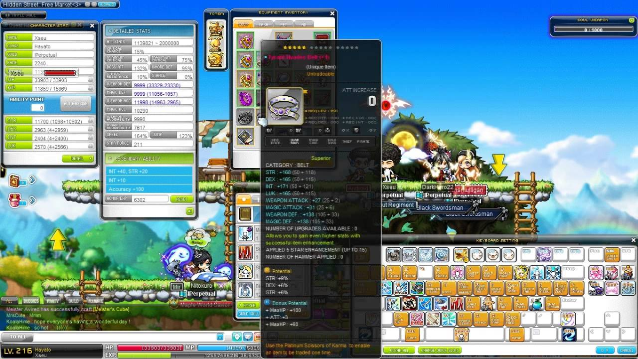 end game gear maplestory