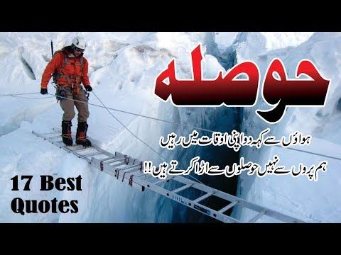 17 Best quotes about Hosla in Urdu Hindi with voice and images || Hosla Aqwal e zareen