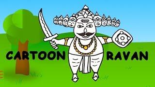 #HappyDiwali 2017 Best Wishes | Cartoon Ravan Sketch | Sketches For Kids | #Ravana Drawing