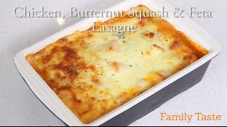 Chicken, Butternut Squash & Feta Lasagne