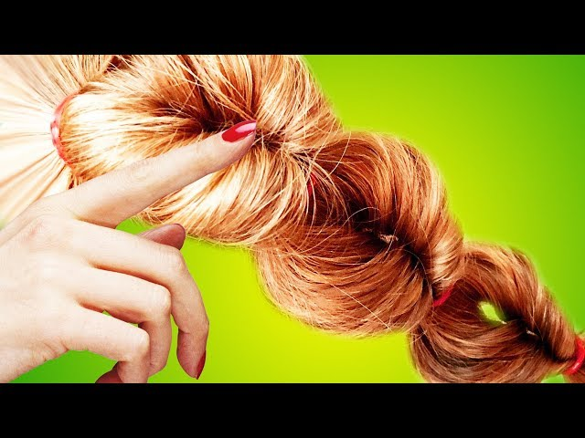 Easy and Quick Everyday Hairstyle Make by Elastic Bands - Hair Tutorial Video