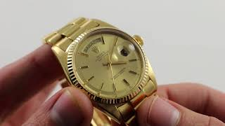 Pre-Owned Rolex Oyster Perpetual Day-Date 1803 Luxury Watch Review