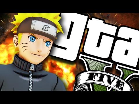 GTA V PC - Naruto Tacando GÁS (MODS)