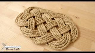 ocean plait mat- rope hot pad