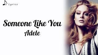 Gambar cover Someone Like You - Adele (Lyrics)