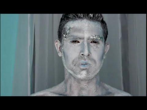 maquillaje para halloween hombre de hielonieve