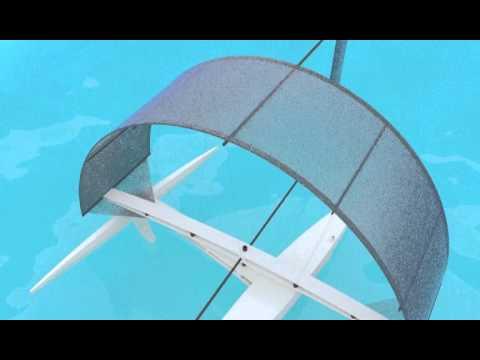 Arcsail Proa Blender Physics Test 1, 2015 20 June