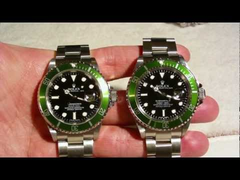 Bardzo dobry REAL vs FAKE ROLEX SUBMARINER green - YouTube RZ69
