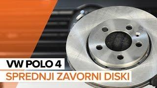 Kako zamenjati Zavorne Ploščice VW POLO (9N_) - priročnik