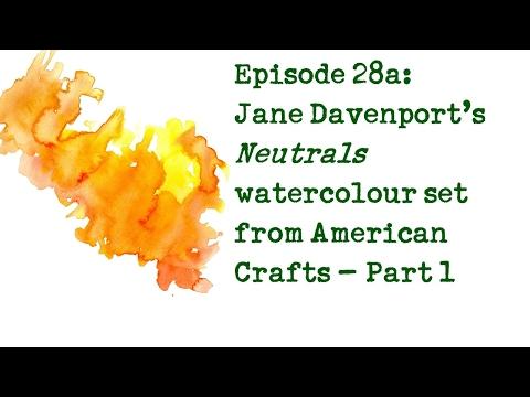 Product Review 28a: Jane Davenport Petite Palette 'Neutrals' watercolour set (PART 1)
