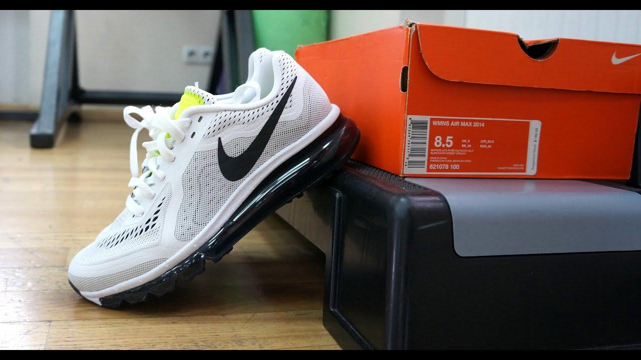 b318a69c184044 Nike Air Max 2014 White Black - YouTube