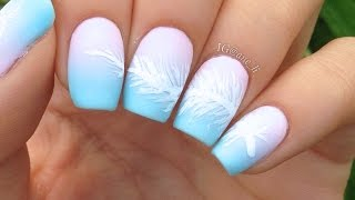 Easy Feather + Dreamcatcher Nail Art