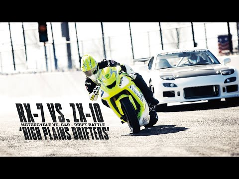 Motorcycle Vs Car Drift Battle Youtube