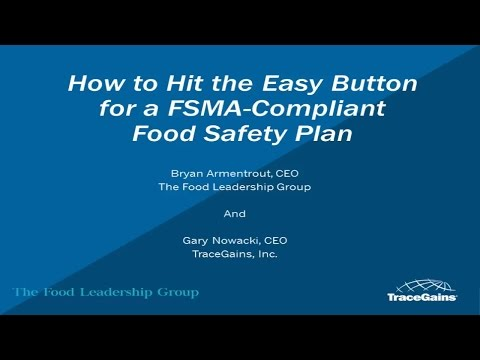 Hit the Easy Button for a FSMA Compliant Food Safety Plan