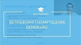 Betriebswirtschaftslehre Teil 1 IHK Fachwirt Demokurs BWL