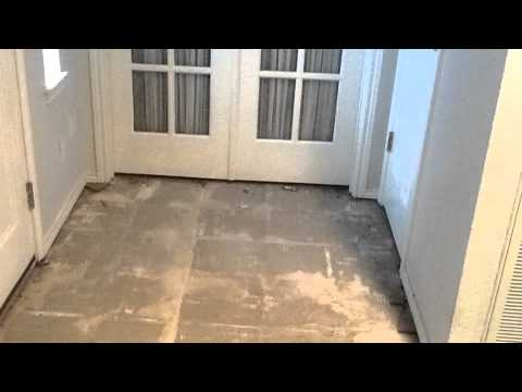 Remove Tile Flooring And Carpet Overlay Concrete Stain Seal