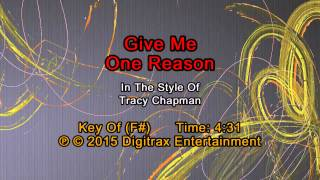 Tracy Chapman - Give Me One Reason (Backing Track)
