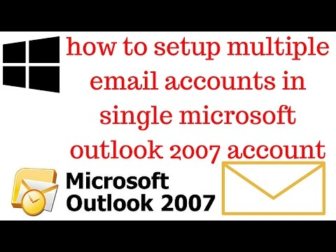 How to add 2 email account in outlook 2007