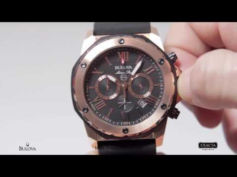 Reloj BULOVA Marine Star Enchapado en Oro Rosé Cronómetro