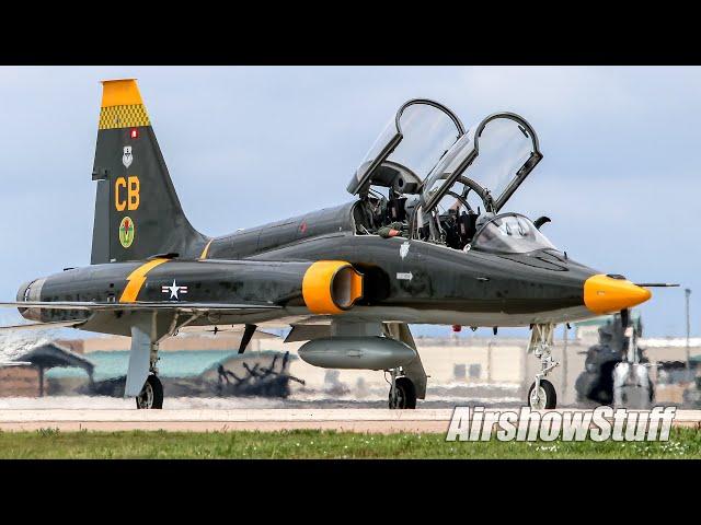 T-38 Talon Flybys (Heritage Paint!) - Thunder Over The Heartland 2021