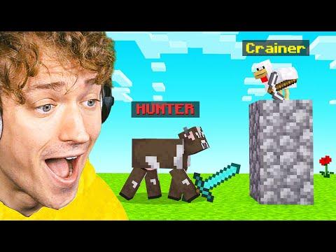 ANIMAL HUNTER VS SPEEDRUNNER In Minecraft!