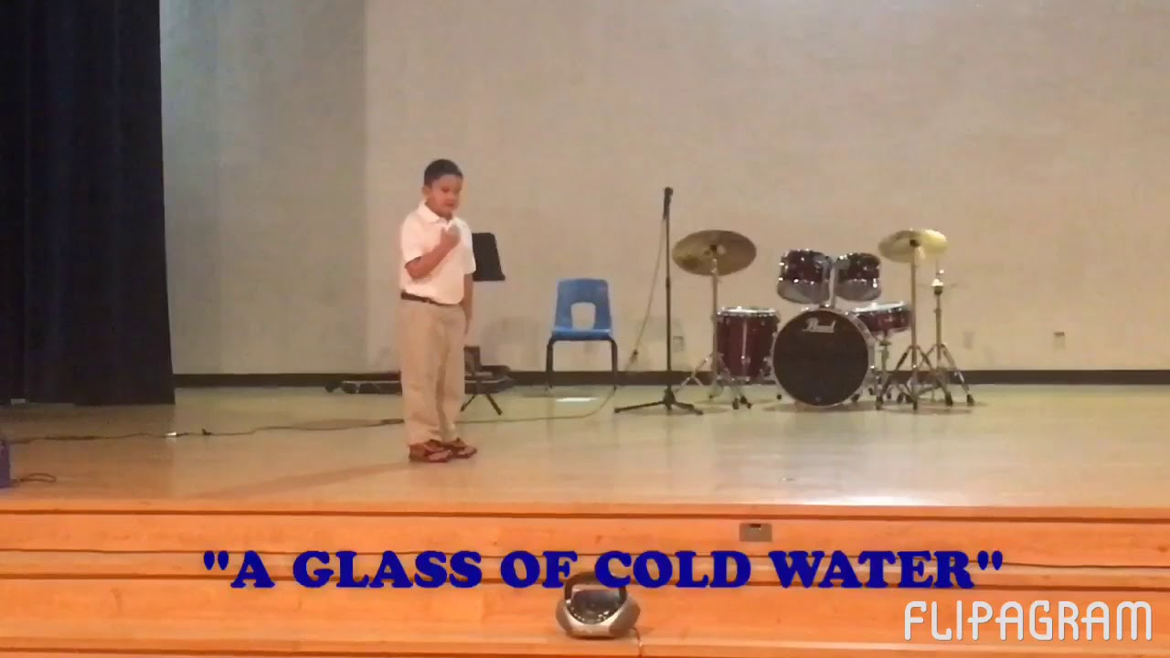 a glass of water declamation piece