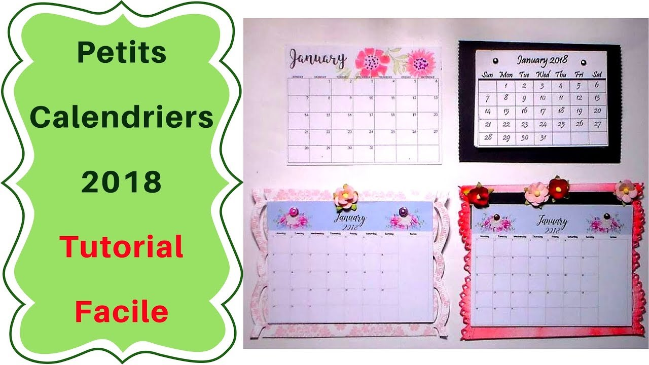 Faire Un Calendrier Comment Faire Un Mini Calendrier Tutoriel Facile