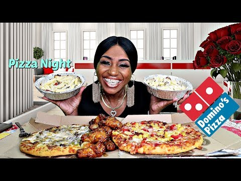 DOMINO\'S PIZZA, WINGS, PASTA MUKBANG