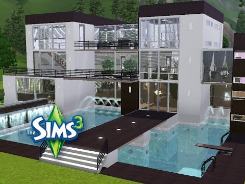 sims 3 haus bauen let 39 s build modernes traumhaus f r zwei familien youtube. Black Bedroom Furniture Sets. Home Design Ideas