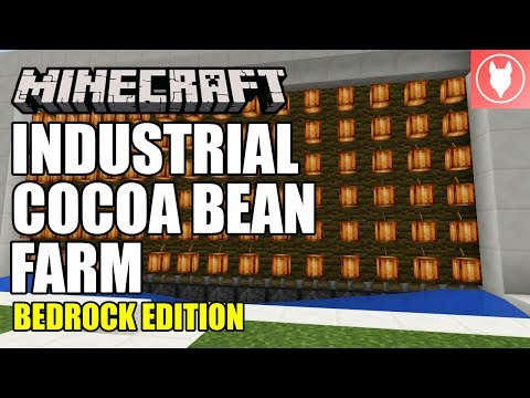 Minecraft Bedrock - Industrial Cocoa Bean Farm Tutorial ( Xbox / MCPE / Windows 10 / Switch )