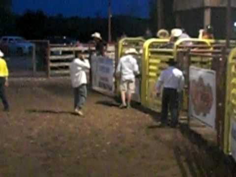 Riley Beckham Rides his 1st Calf - Twin Elm Guest Ranch Rodeo