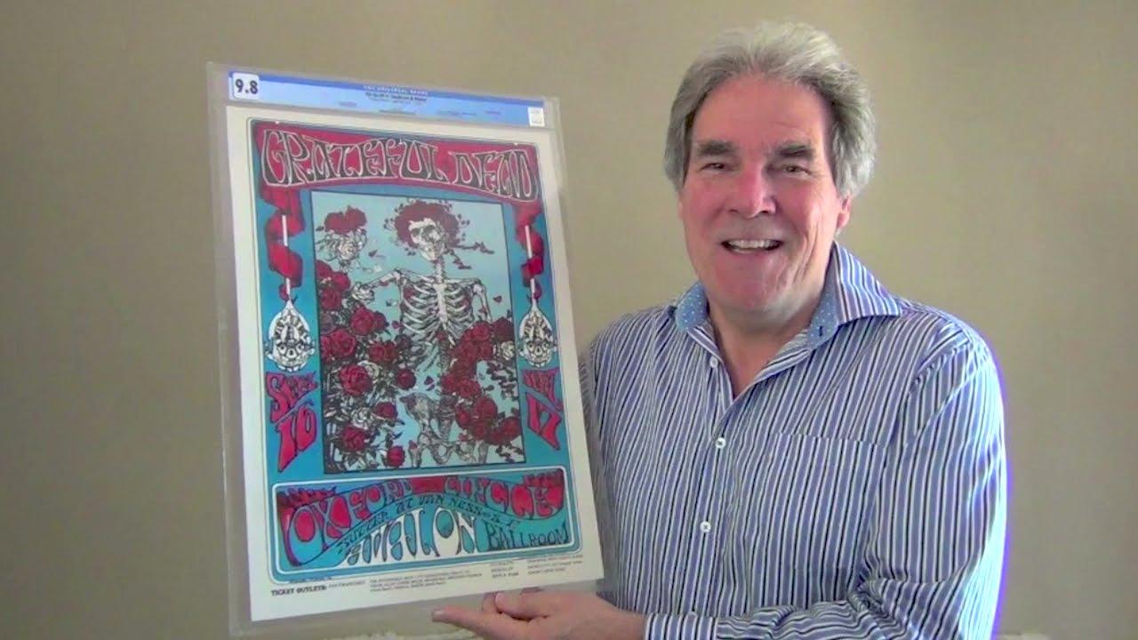 "Grateful Dead 1966 ""Skeleton & Roses"" FD-26 Concert Poster, Graded Near-Perfect 9.8"