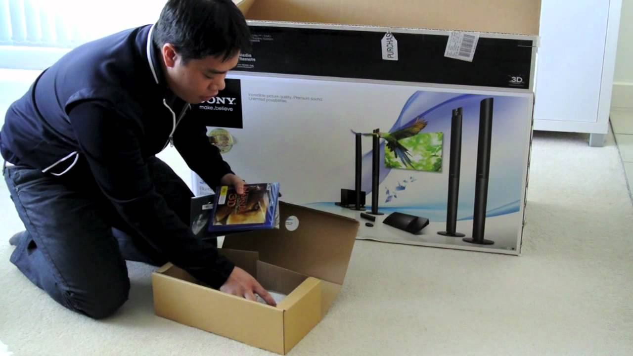 Unboxing Sony BDV N990W Blu Ray/DVD Home Theatre - YouTube