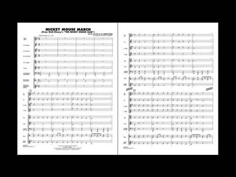 Mickey Mouse March By Jimmie Dodd/arr. Michael Sweeney