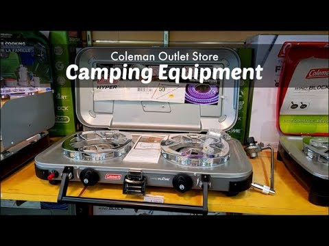 Essential Camping Equipment | Coleman Outlet Store | Coleman Stove Camp Cooking | Amy Learns To Cook