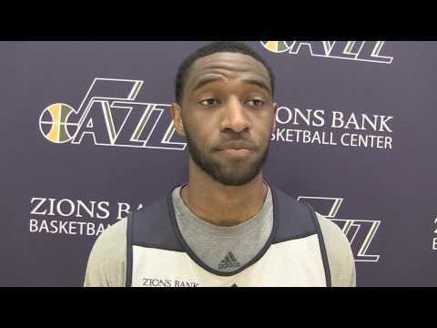 Interview with Utah Jazz guard Ian Clark - Oct. 29, 2014