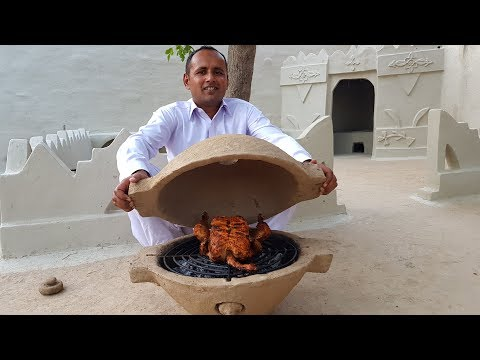 DIY Mud Grill Pot   Portable Clay Oven   Build A Clay Oven In Your Garden   Village Food Secrets
