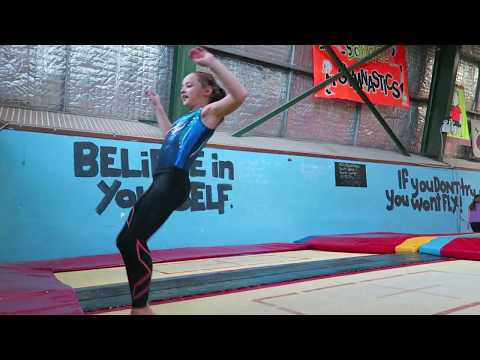 A day in the life of a gymnast|First  one and a half twist