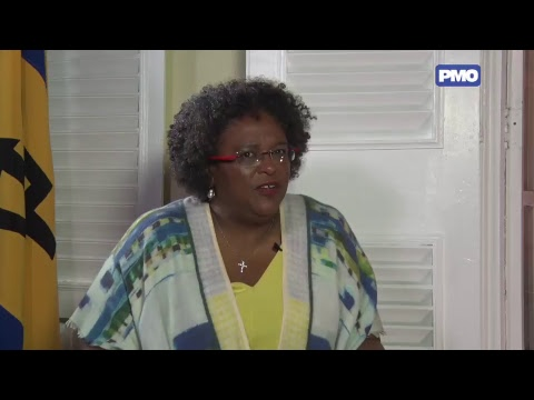 The First   Prime Minister Mottley with David Ellis