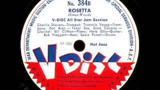 V-Disc 384 Jack Teagarden, Louis Armstrong, V-Disc Allstars