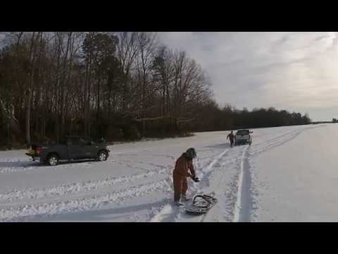 Sussex County Delaware Sledding... Take 1