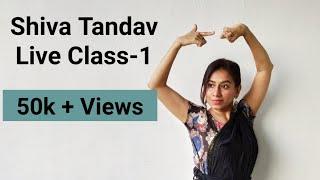 TANDAV | SHIVA STOTRAM | Live Class Bharatnatyam.