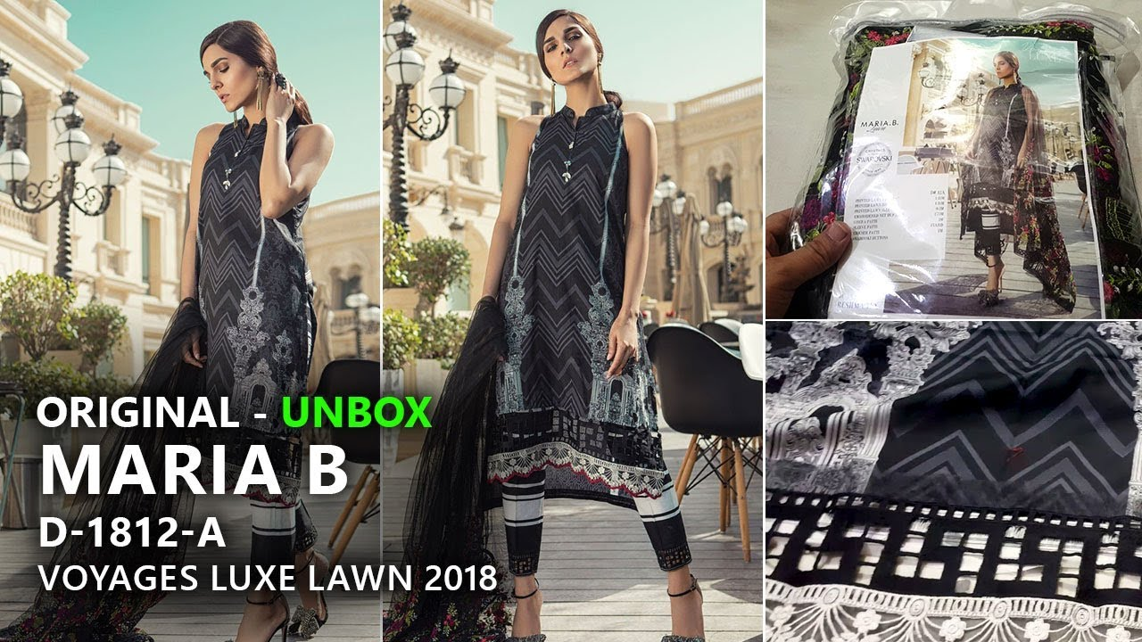 007a6c378f Maria B Collection 2018 - Unbox 12A Voyages Luxe Lawn 2018 - Pakistani  Branded Dresses