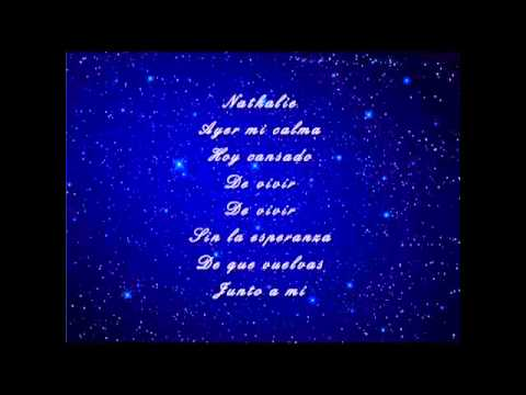 Julio Iglesias - Nathalie (with lyrics on screen)