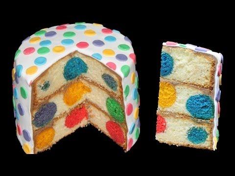 Polka Dot Cake/ Polka Dot Kuchen (mit Ganache und Rollfondant)