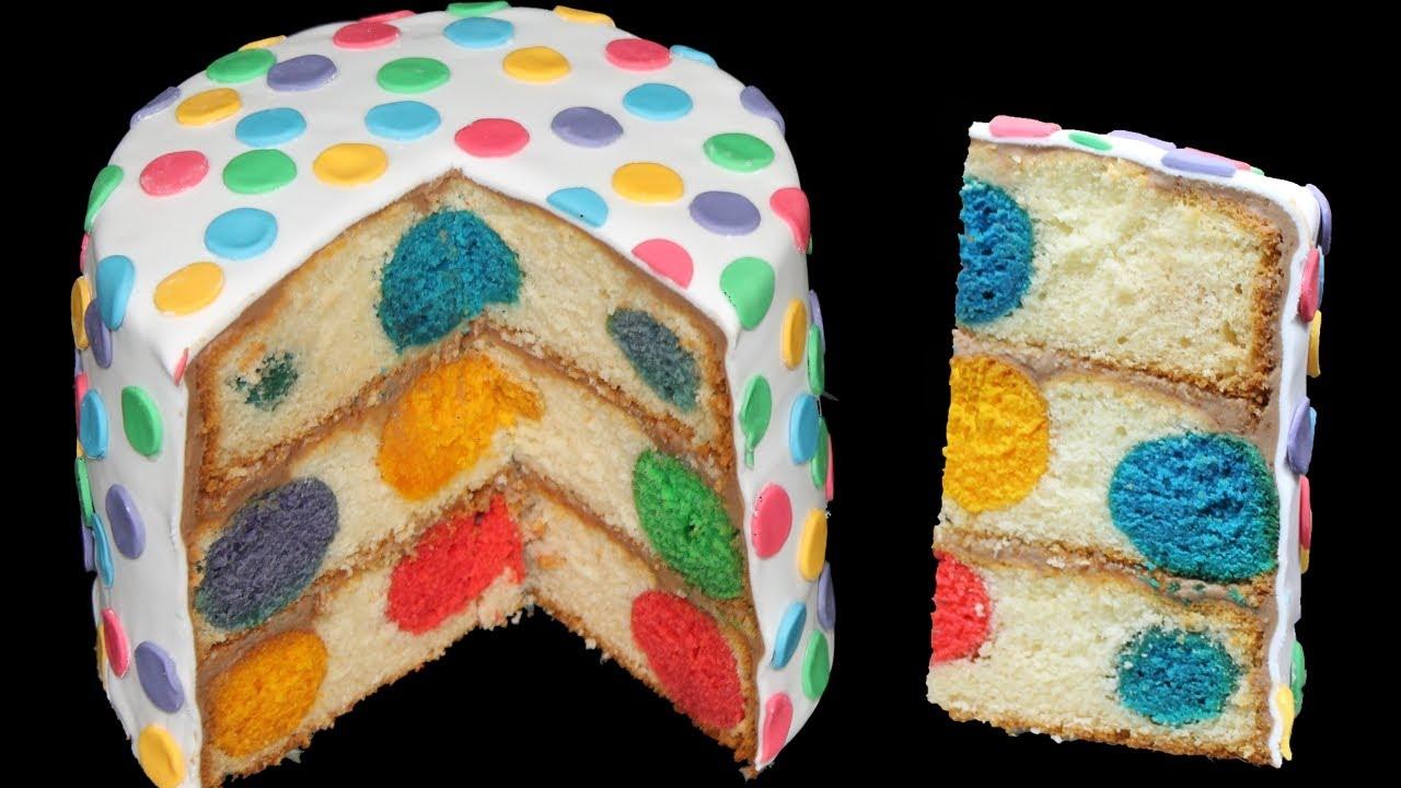 Kuchen bunt innen