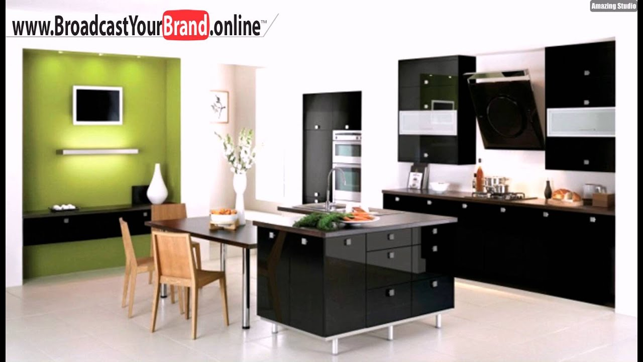 schwarze hochglanz k che essplatz modern youtube. Black Bedroom Furniture Sets. Home Design Ideas