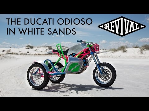 Revival Cycles' Ducati Odioso in White Sands