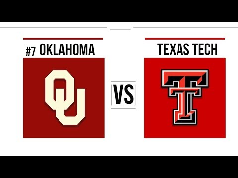 Week 10 2018 #7 Oklahoma vs Texas Tech Full Game Highlights