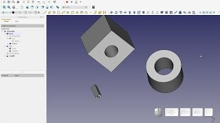 FreeCAD Boolean Cut 3 Ways to Subtract Geometry ( Re-Posted Correct Footage )